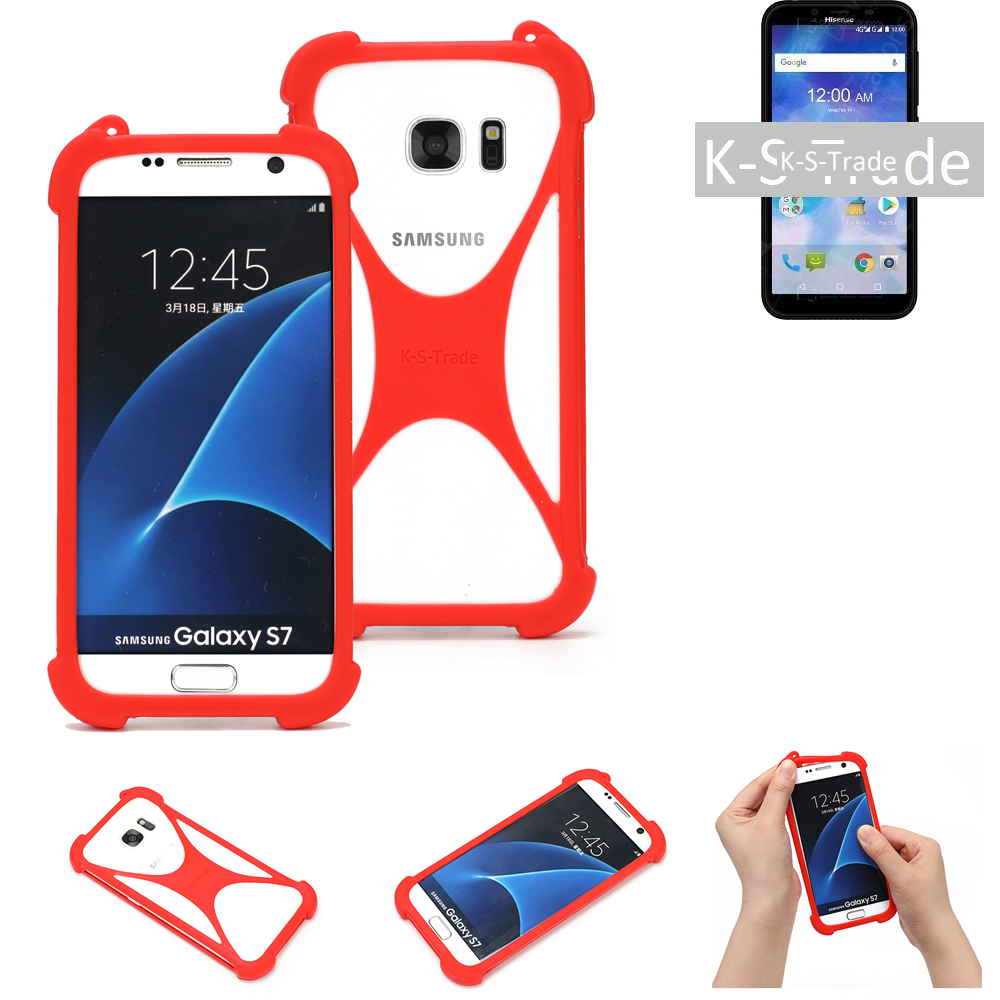 Pare-chocs-p-Sony-Xperia-10-Silicone-Case-Softcase-Bumper-Protector-Edge-Protect