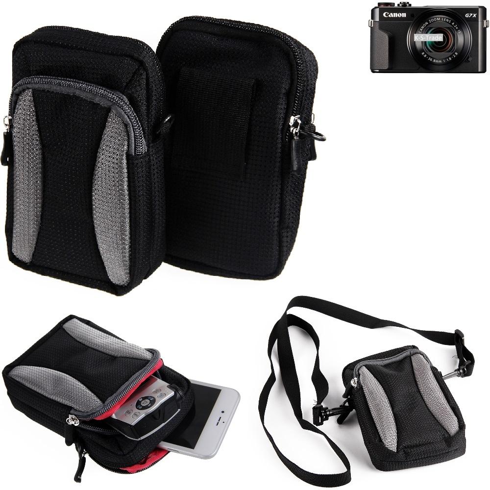 Kamera-Tasche-fuer-Canon-PowerShot-G7-X-Mark-II-Umhaengetasche-Guerteltasche-Hol