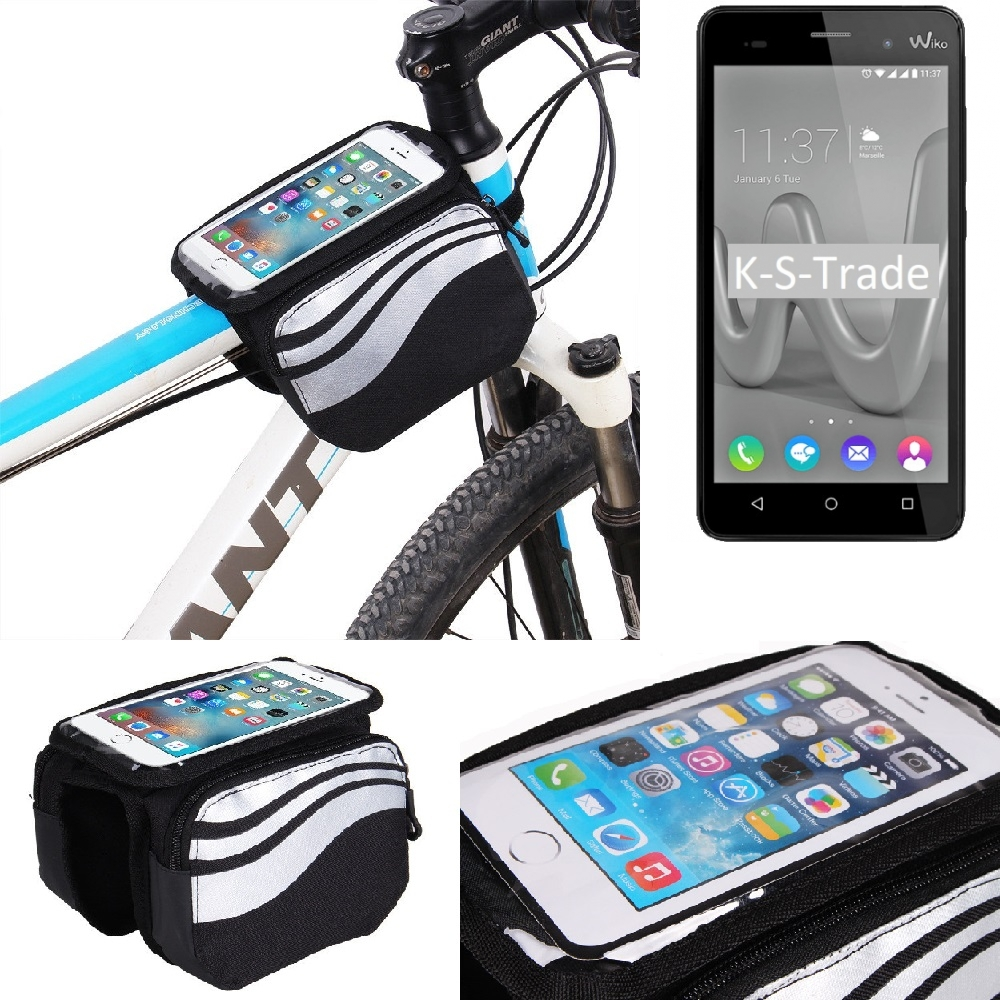 Support Vélo f. Wiko Smartphone Cadre Cadre Smartphone Support Sacoche de vélo Cadre Sac écoles cab112